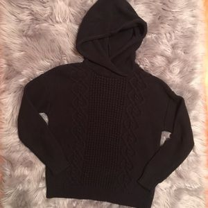 ROXY Hooded Cable Knit Sweater
